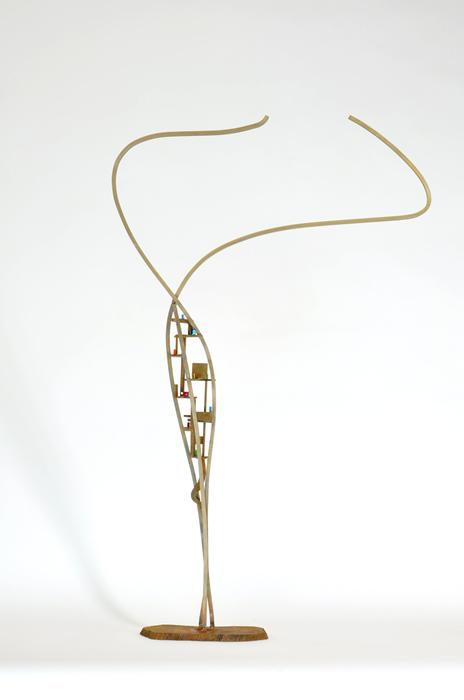 08_(Sold-Sanra Marshall)Arch.dance series#8_2014_Bronze, glass,steel_H85xW52xD11cm_$750.jpg